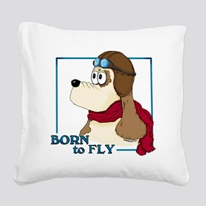 Born to Fly Square Canvas Pillow