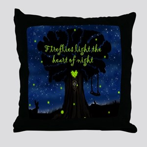 Fireflies light the heart of night SB Throw Pillow