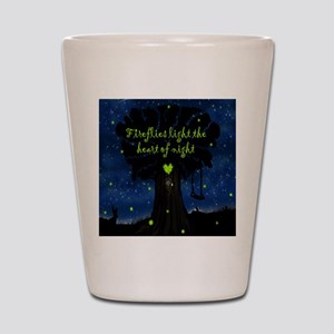 Fireflies light the heart of night SB Shot Glass
