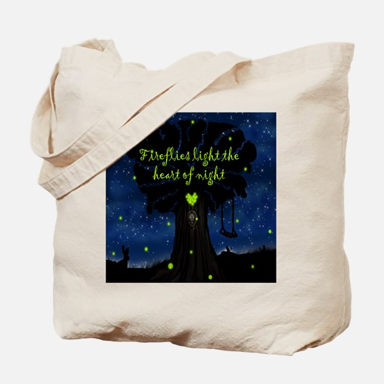 Fireflies light the heart of night SB Tote Bag