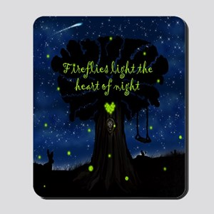 Fireflies light the heart of night SB Mousepad