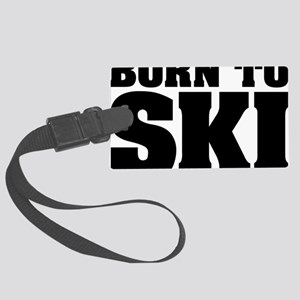 Born to Ski 01 Large Luggage Tag
