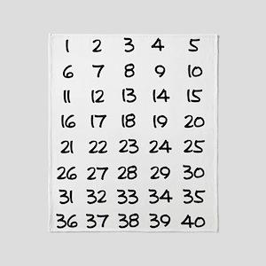 Pregnancy Countdown Throw Blanket
