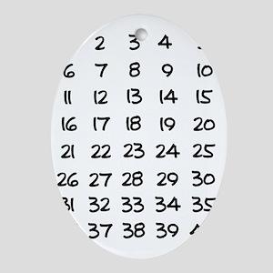 Pregnancy Countdown Oval Ornament