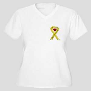 Yellow Ribbon Son-in-law Women's Plus Size V-Neck