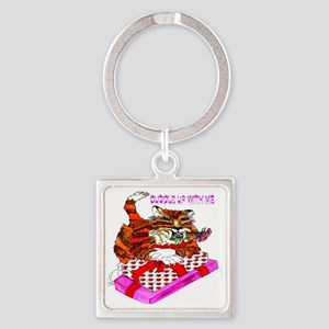 tigger cuddle up with me Square Keychain