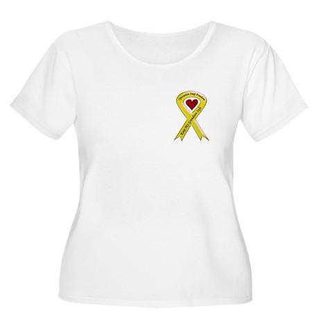 Military Grandson Yellow Ribbon Women's Plus Size