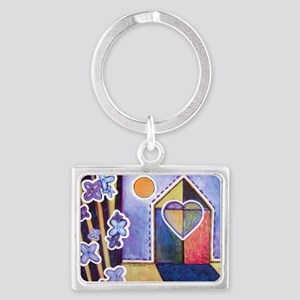 House and Home Landscape Keychain