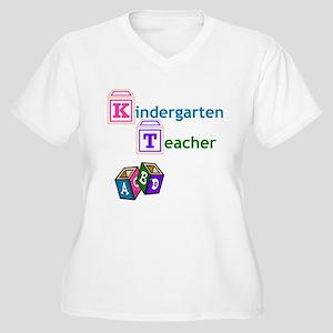 Kindergarten Teacher Women's Plus Size V-Neck T-Sh