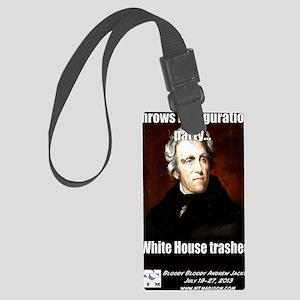 AJ Trashed White House Large Luggage Tag