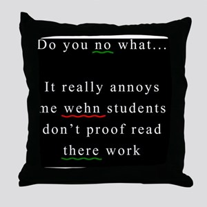 Proof Read BLACK Throw Pillow