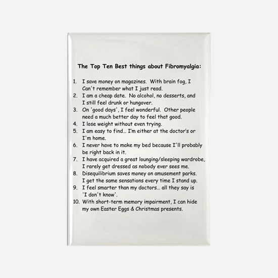 Top 10 for Fibromyalgia Rectangle Magnet