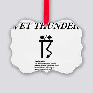 Wet Thunder Picture Ornament