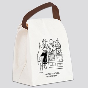 Of Course Its Impossible Canvas Lunch Bag