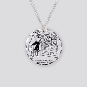 Of Course Its Impossible Necklace Circle Charm