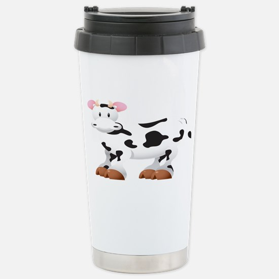 Cute Cow Shirt Stainless Steel Travel Mug