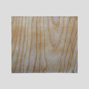 Chic Wood Grain Pattern Designer Throw Blanket