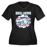 Drill ANWR Women's Plus Size V-Neck Dark T-Shirt