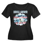 Drill ANWR Women's Plus Size Scoop Neck Dark T-Shi