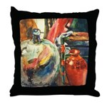 Still Life w/Bottle by Elsie Throw Pillow