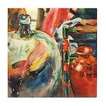 Still Life w/Bottle by Elsie Tile Coaster