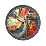 Still Life w/Bottle by Elsie Wall Clock