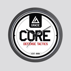 Gracie CORE Defense Tactics Wall Clock