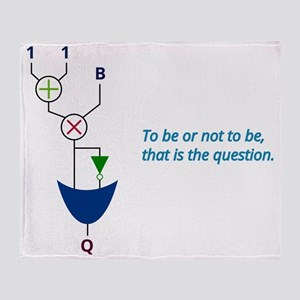 To be or not to be, that is the ques Throw Blanket