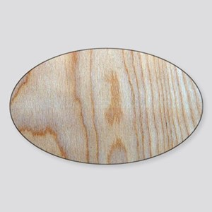 Wood Grain Loves Stain Designer Sticker (Oval)
