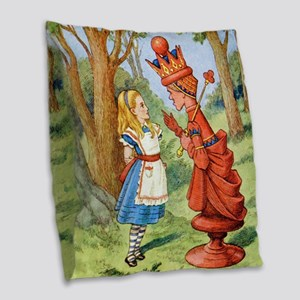 Alice The Red Queen_SQ Burlap Throw Pillow