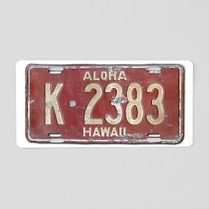 Hawaiian Aloha LIcense Plat Aluminum License Plate
