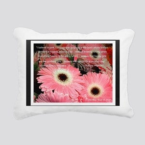 I Believe in Pink... Rectangular Canvas Pillow