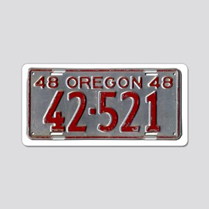 1948 Vintage Oregon License Aluminum License Plate