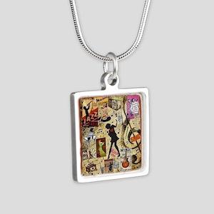 Music Mania Silver Square Necklace