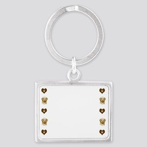 Golden Retriever-Magnetic Board Landscape Keychain