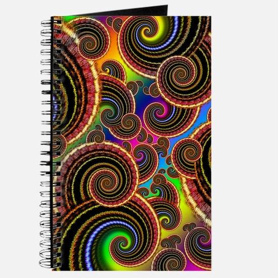 Funky Rainbow Swirl Pattern Journal