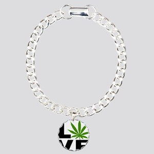 I Love Marijuana Charm Bracelet, One Charm