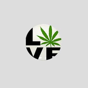 I Love Marijuana Mini Button