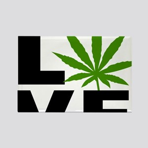 I Love Marijuana Rectangle Magnet