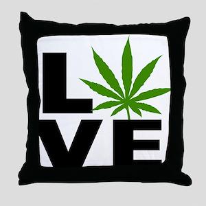 I Love Marijuana Throw Pillow