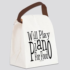 Will Play Piano Canvas Lunch Bag