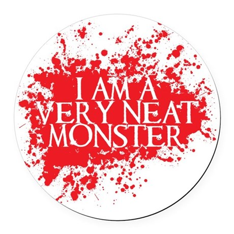 neat monster Round Car Magnet