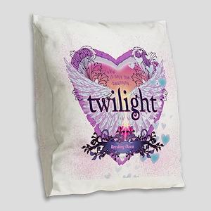 Twilight Breaking Dawn Winged  Burlap Throw Pillow