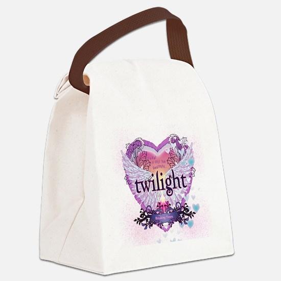 Twilight Breaking Dawn Winged Hea Canvas Lunch Bag