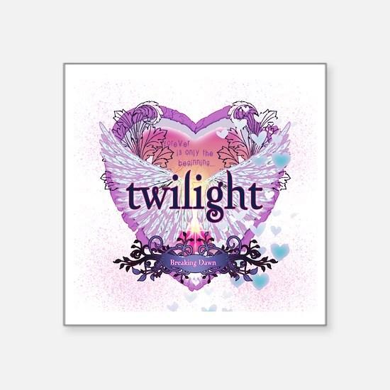 "Twilight Breaking Dawn Wing Square Sticker 3"" x 3"""