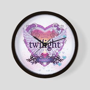 Twilight Breaking Dawn Winged Heart Wall Clock