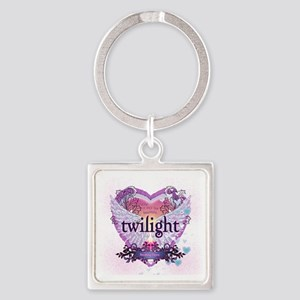 Twilight Breaking Dawn Winged Hear Square Keychain