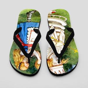 Alice  WHITE QUEEN_SQ Flip Flops