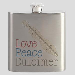 Love Peace Dulcimer Flask