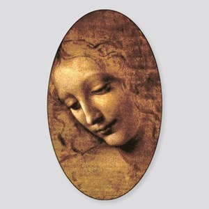 Leonardo Da Vinci La Scapigliata Sticker (Oval)